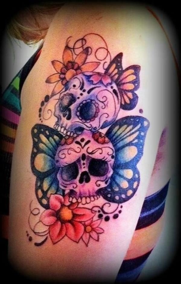 Stylish Sugar Skull Tattoo Designs16