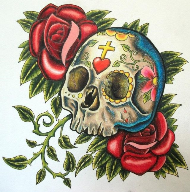 Sugar Design Skull Tattoo 4