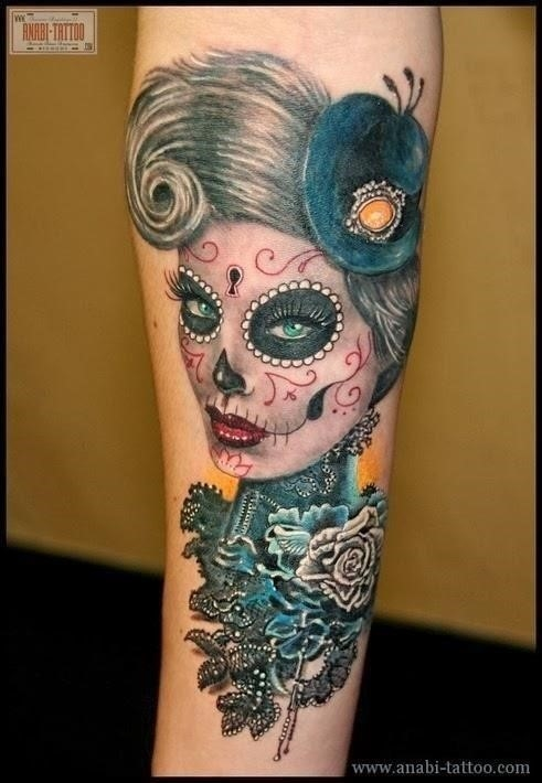 Sugar Skull Tattoo 2