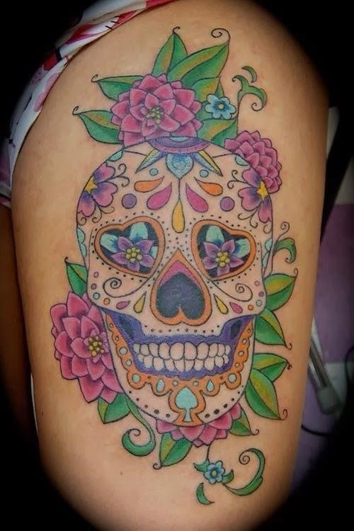 Sugar Skull Tattoo 6