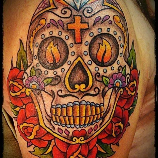 Sugar Skull Tattoos  26 650×650