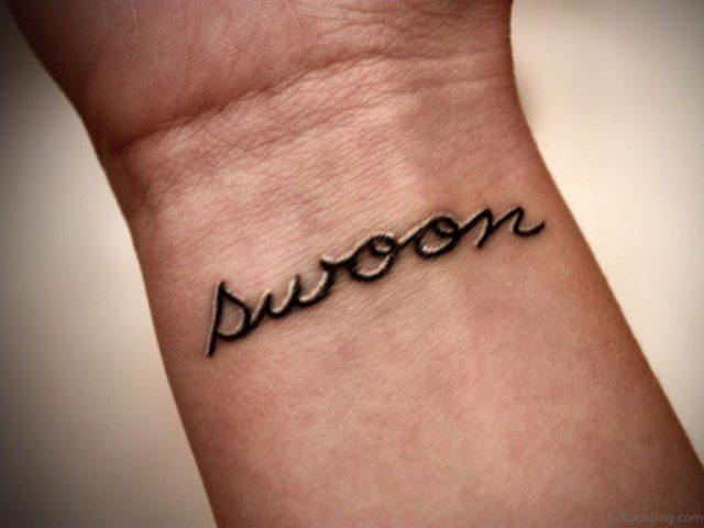 Swoon Word Tattoo On Wrist WT172TB172