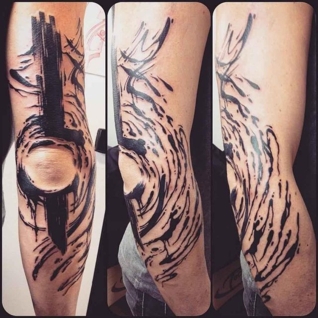 Tattoo Around Elbow by Alx Bizar