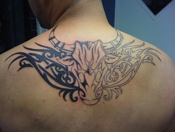Taurus Tribal Tattoo Designs