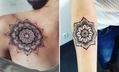 Trendy Mandala Tattoo Ideas for Women2 400×242