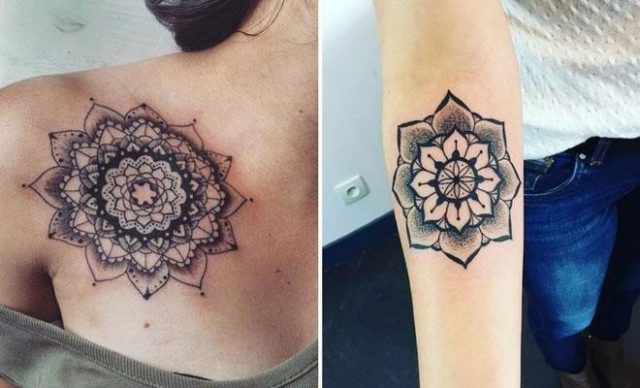 Trendy Mandala Tattoo Ideas for Women2