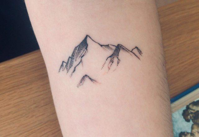 Trendy Mountain Tattoo Design 1 scaled