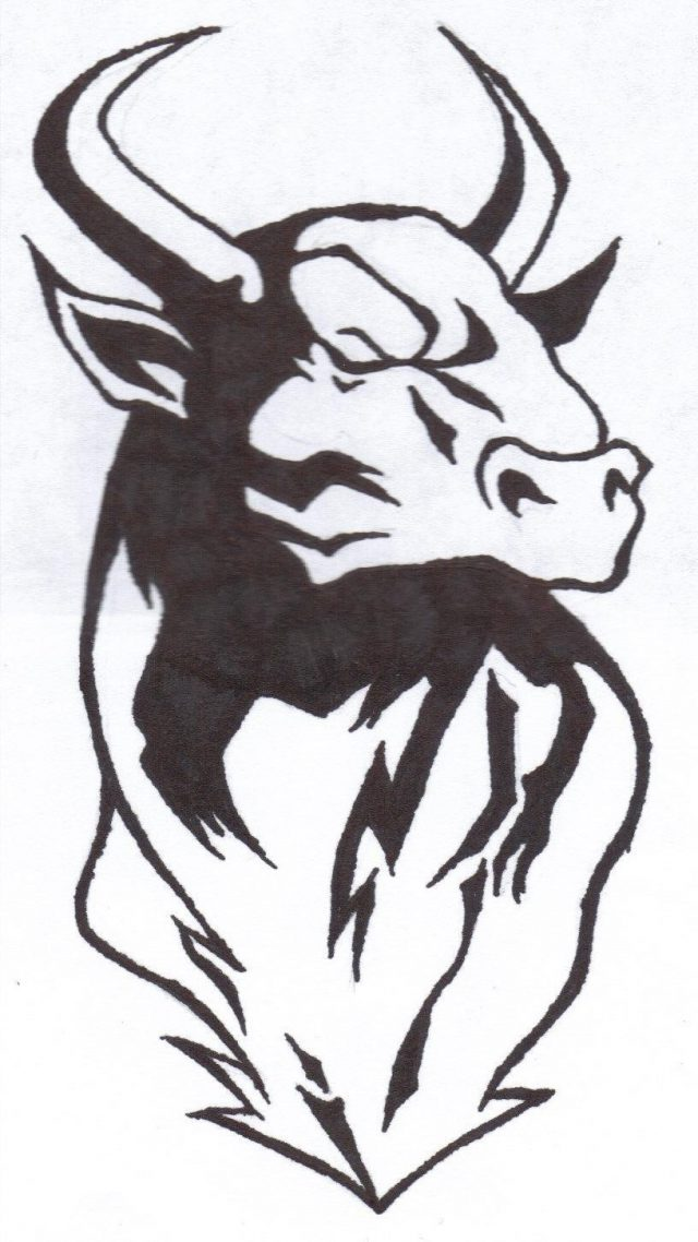 Tribal Bull Tattoo Design Sample