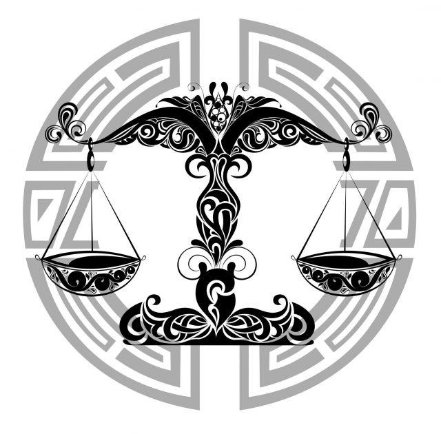 Tribal Libra Balance Tattoo Design 1