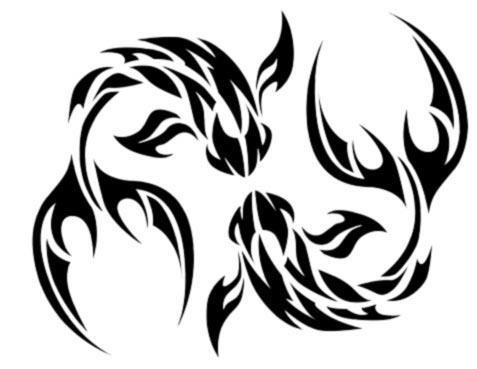 Tribal Pisces Tattoo Designs1
