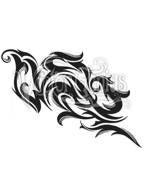 Tribal Tattoo Flash Stock Art Thumbnail