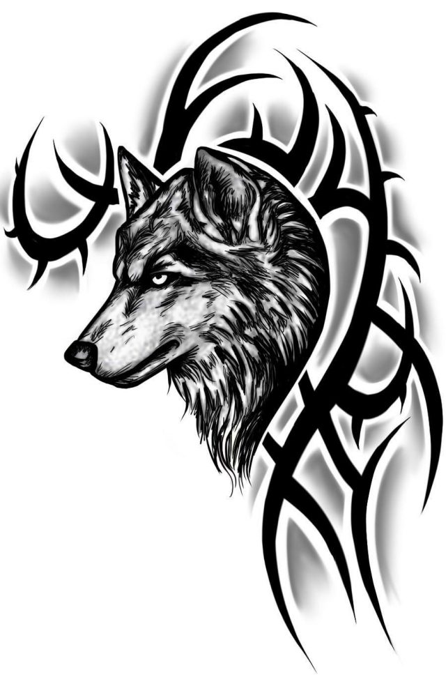 Tribal Wolf Tattoo1
