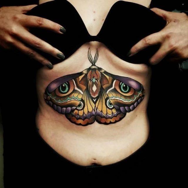Underboob tattoo 205