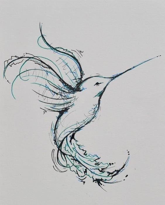 Unique Hummingbird Tattoo Design