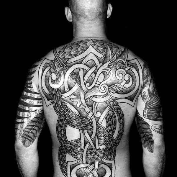 Viking Norse tattoo guys fullback