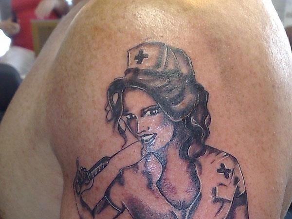 War Nurse Tattoo