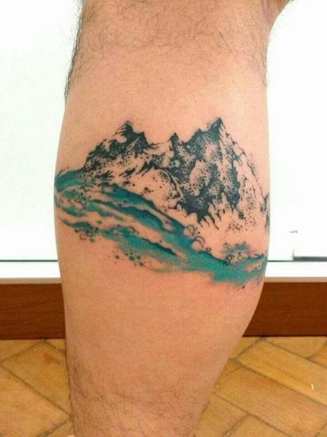 Watercolor Mountain Tattoo Images