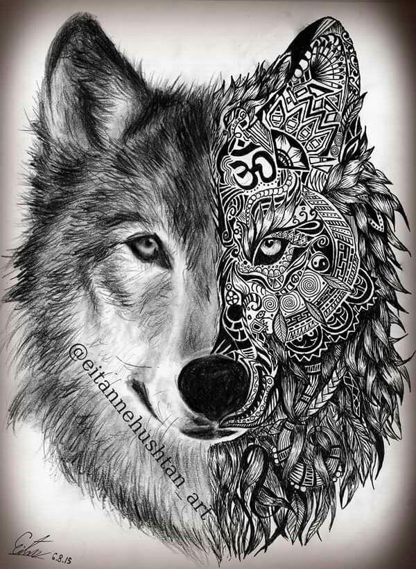 Wolf Tattoo 1