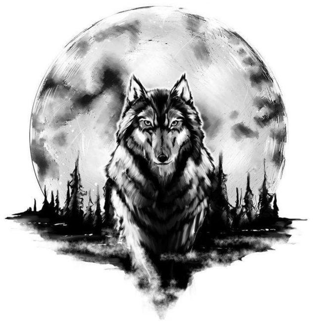 Wolf Tattoo 3