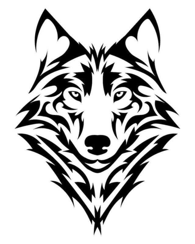 Wolf Tattoo Vorlage 4