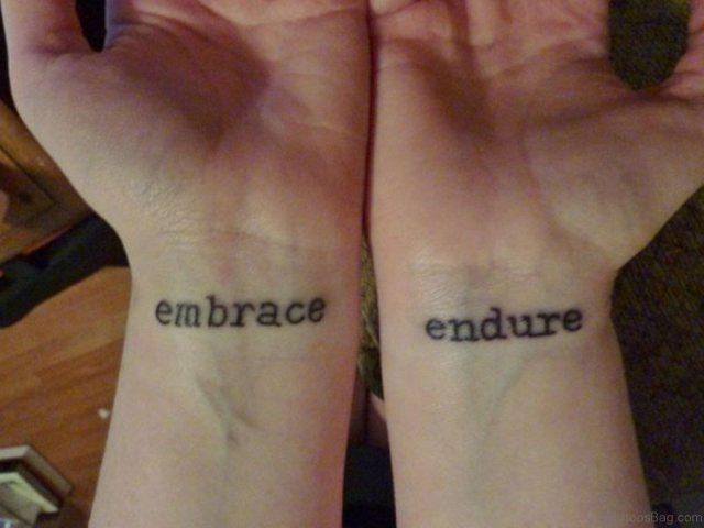 Word Tattoo On Wrist ST114
