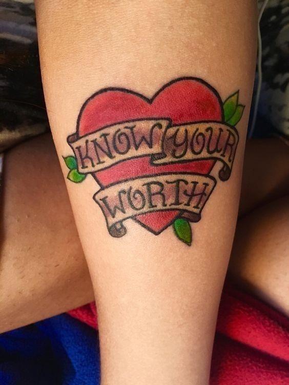 Worth Self Love Tattoos