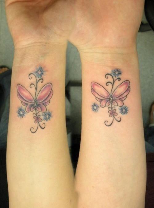 Wrist Butterfly Tattoos