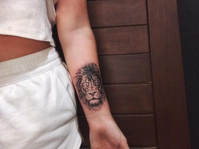 Wrist Lion Tattoo