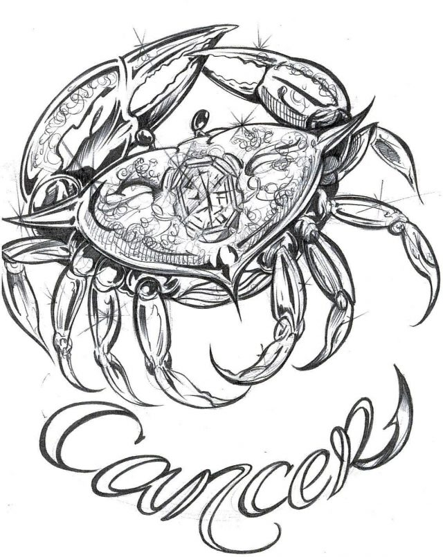 Zodiac Tattoos Cancer