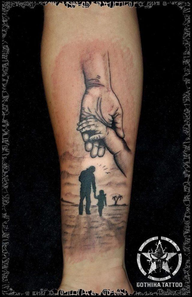 A49d3e84f3aea188ac19173b3143476d  father daughter tattoos family tattoos