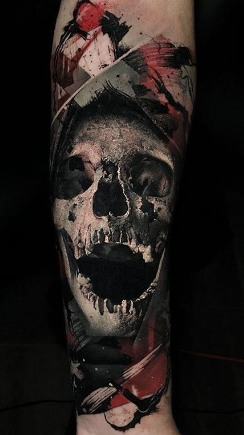 Abstract skull tattoo 1544401077gkn48