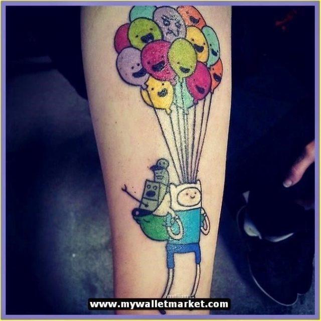 Adventure time tattoos balloons