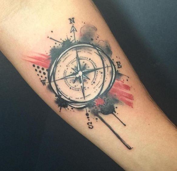 Amazing compass tattoos