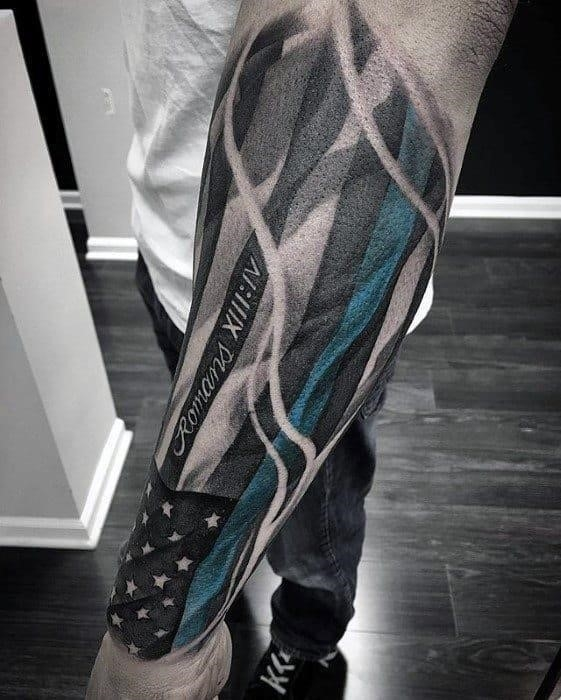 American flag unique outer forearm guys tattoos