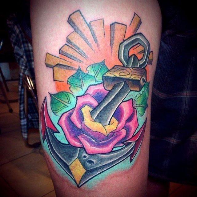 Anchor tattoo 33