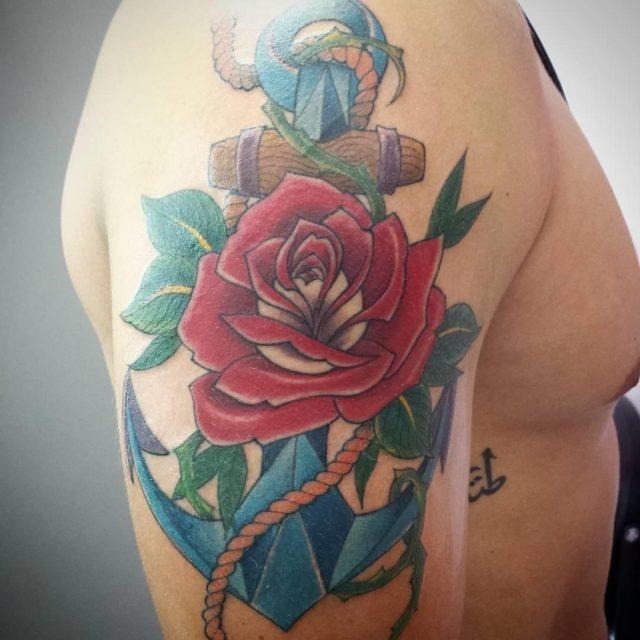 Anchor tattoo 36
