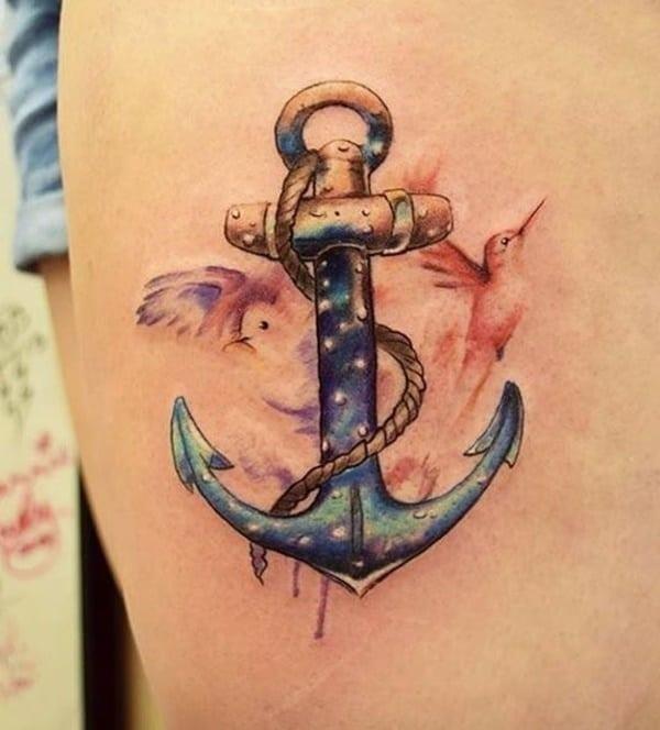 Anchor tattoo designs 38