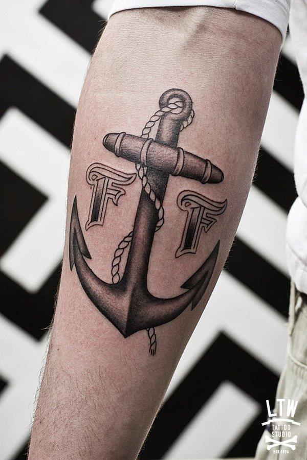 Anchor tattoos 01