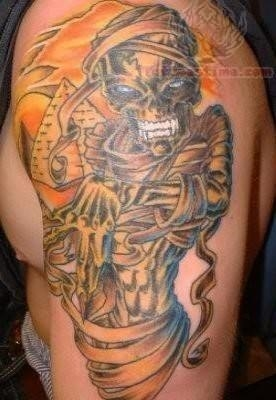 Ancient egypt tattoo on shoulder