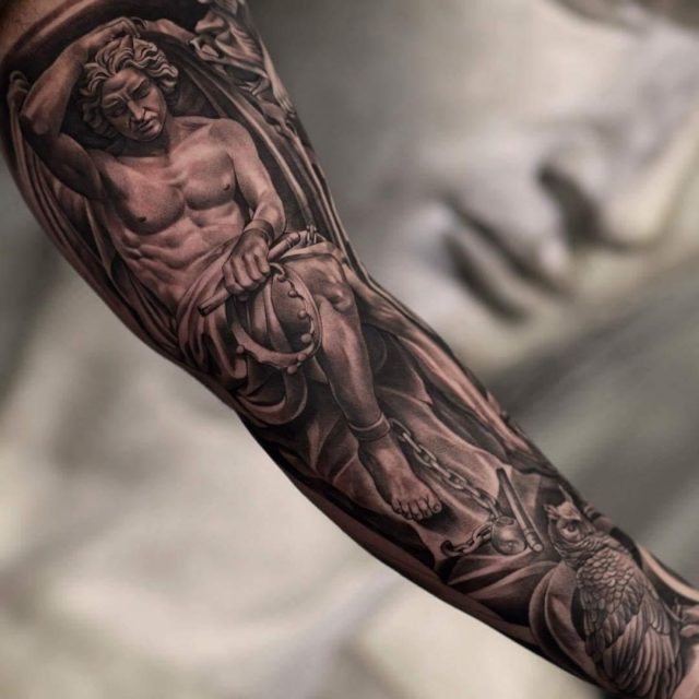 Angel forearm tattoo