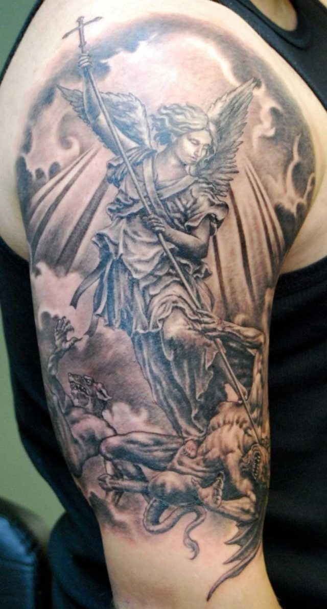 Angel%2Btattoos%2B st michael tattoo
