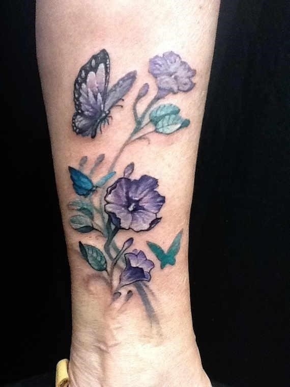 Ankle butterfly tattoos 28