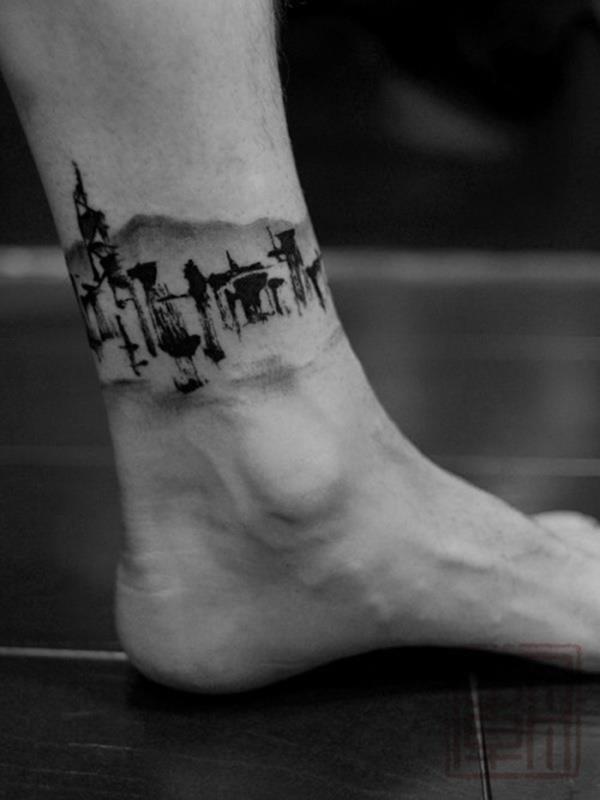Ankle tattoo designs 78