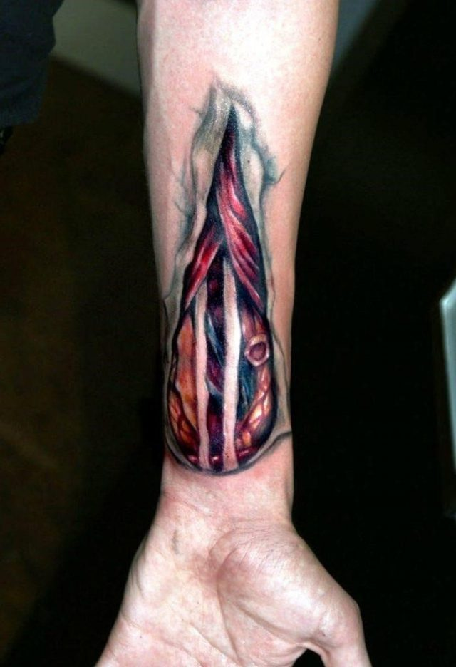 Aqua tattoos 3d wrist 700×1024
