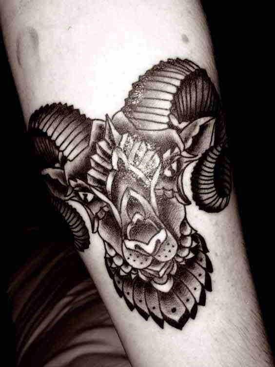 Aries tattoo 12