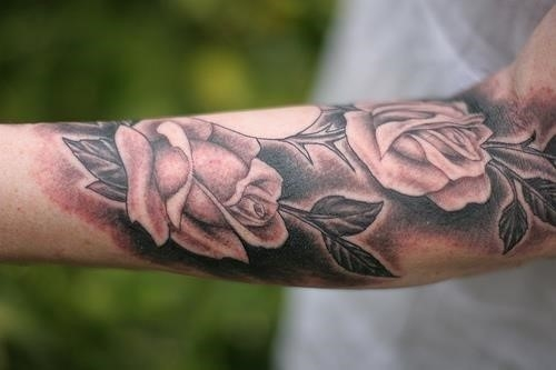 Arm rose tattoo22