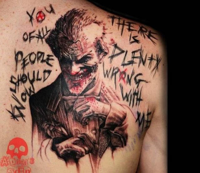 Artist  adams eden tattoos  the joker tattoo 18214115258