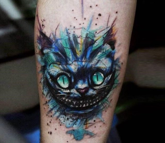 Artist  andrey stepanov  cheshire cat tattoo 16260122557