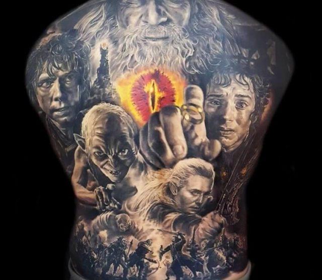 Artist  el mago tattoo  lord of the rings tattoo 19044105332