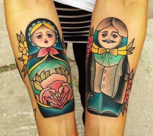 Artist  matt webb  russian doll tattoo 16278225922
